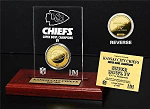 Kansas City Chiefs Super Bowl Champs Coin In Etched Acrylic by Hall of Fame Memorabilia