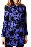 Per Una Shower Resistant Floral Print Mac with Belt [T62-9721H-S]