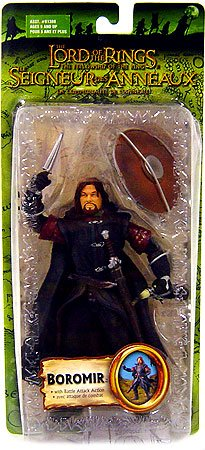 Lord of the Rings Fellowship of the Ring Battle Attack Boromir Bilingual Action FigureB0000TQI3O