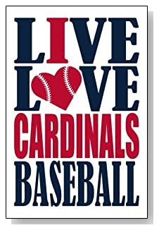 Live Love I Heart Cardinals Baseball lined journal - any occasion gift idea for St Louis Cardinals fans from WriteDrawDesign.com