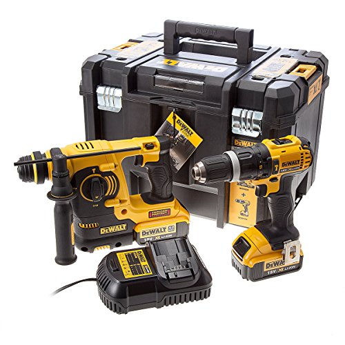 dewalt-dck260m2t-perceuse-visseuse-a-percussion-perforateur-burineur-sds-plus-2-x-18-v-4-ah