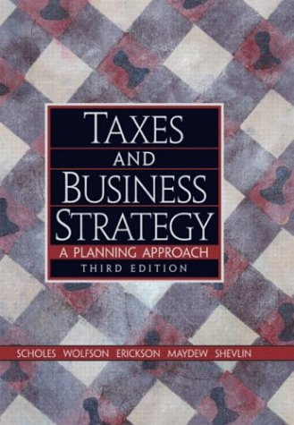 Image for Taxes and Business Strategy : A Planning Approach