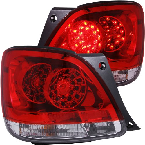 Anzo Usa 321101 Lexus Red/Clear Led Tail Light Assembly - (Sold In Pairs)