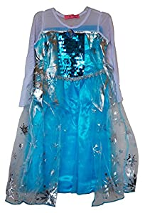 Girls Ice Princess Dress Cosplay Costume (3, C)