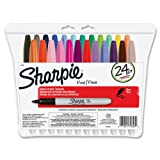 Sharpie 75846 Fine Point Permanent Marker, Assorted Colors, 24-Pack ~ Sharpie