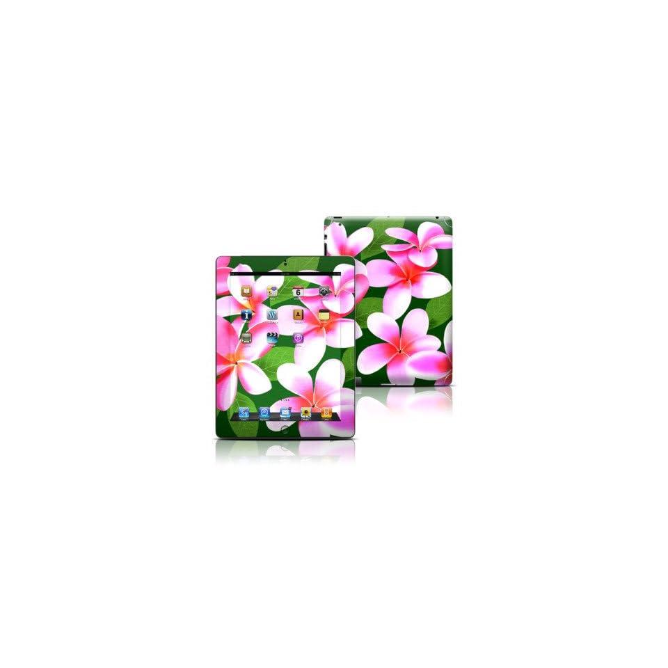 Pink Plumerias Design Protective Decal Skin Sticker for Apple iPad 3 (3rd Gen) Tablet E Reader