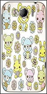 Snoogg Hand Drawn Teddy Bear Designer Protective Back Case Cover For HTC Sensation Xl