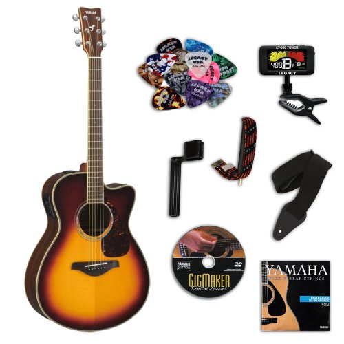 Yamaha Fsx720Sc Brown Sunburst Small Body Acoustic-Electric Guitar Bundle W/Legacy Accessory Kit