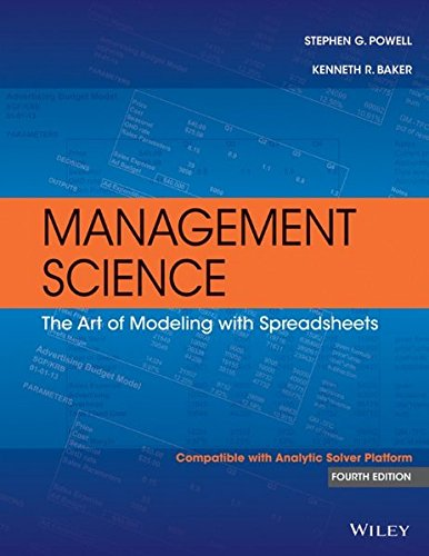 Management Science: The Art of Modeling with Spreadsheets (Spreadsheet Modeling compare prices)