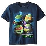 Teenage Mutant Ninja Turtles Big Boys' Short Sleeve Tee Shirt, Navy, Large/  14/16