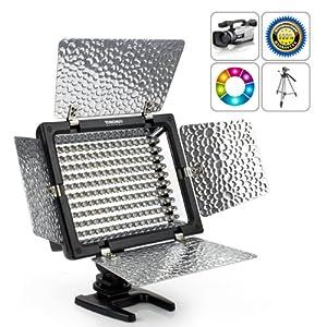 HooToo® - YN-160 LED Lumière vidéo, Lampe vidéo pour la caméra DV caméscope Canon Nikon