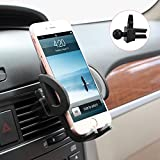 Car Mount, M-BETTER Universal Smartphones Car Air Vent Mount Holder Cradle Compatible with iPhone 7 7 Plus SE 6s 6 Plus 6 5s 5 4s 4 Samsung Galaxy S6 S5 S4 LG Nexus Sony Nokia and More (Black)