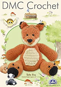 DMC Amigurumi Crochet Toby Fox Kit - Woodland Folk: Amazon ...