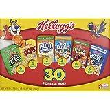 Kellogg's Cereal Jumbo Variety Pack, 31.37 oz, 30 Pack