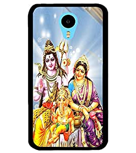 ColourCraft Lords Shiva Parvati and Ganesha Design Back Case Cover for MEIZU M1 NOTE