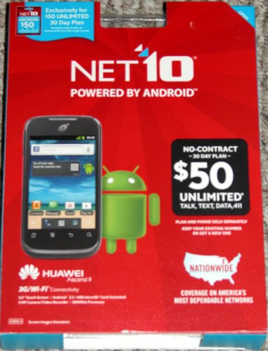 Net 10 Huawei Ascend Ii No-Contract Smart Phone