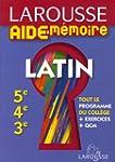 Larousse Aide-M�moire Latin 5e-4e-3e