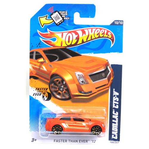 Hot Wheels 2012, Cadillac CTS-V (Orange), Faster Than Ever '12 # 100/247. 1:64 Scale Die Cast. - 1