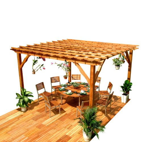 VIFAH V140 Outdoor Wood Pergola.