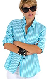 Turq stripe shirt