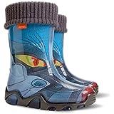 Boys Girls Kids Warm Fleece-Lined Transformer Wellington Boots Wellies