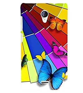 Printvisa Assorted Butterfly Pattern Back Case Cover for Micromax Canvas Unite 2 A106