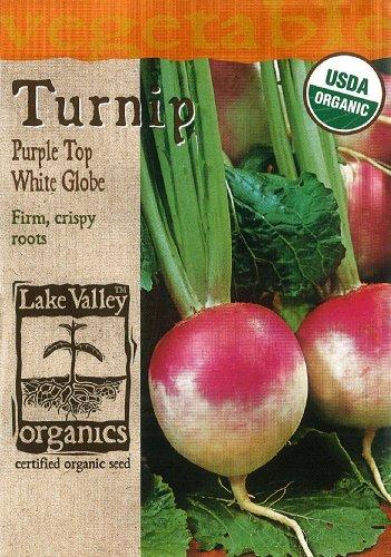 Lake Valley 4068 Organic Turnip Purple Top White Globe Seed Packet