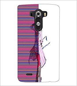 PrintDhaba Cute Girl D-4510 Back Case Cover for LG G3 (Multi-Coloured)