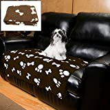 Evelots Large Fleece Pet Blanket 44 X 38 Inches, Durable For Cats & Dogs, Coffee