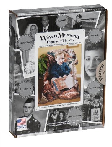 Manual Woven Moments Photo To Tapestry Kit Throw Blanket front-1078826