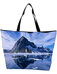 Snoogg Clear Reflection Of The Nature Designer Waterproof Bag Made Of High Strength Nylon