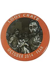 LootCrate October 2014 Pushback Pin Fear Button