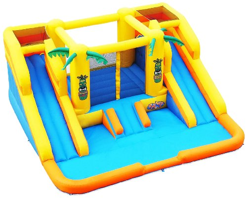 Great Deal! Blast Zone Rainforest Rapids Inflatable Bouncer with Slides by Blast Zone