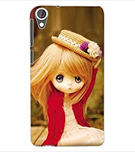 ColourCraft Lovely Doll Design Back Case Cover for HTC DESIRE 820