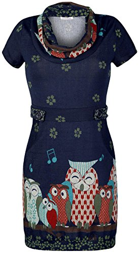 Innocent Owl Tree Abito blu L