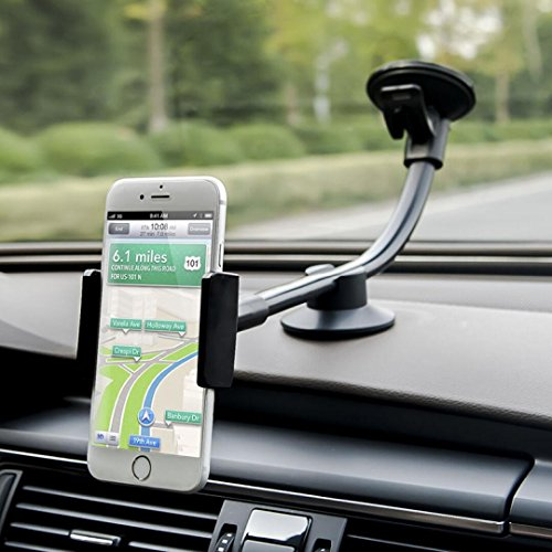 Newward Car Mount, Long Arm Universal Windshield Dashboard Car Phone Mount Holder Cradle includ 2 Sizes Holders for iphone 6 6s Plus,Samsung Galaxy,HTC,LG,GPS Etc