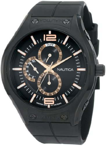 Nautica Men's N21009G NMC 200 Multifunction Black Ion-Plated Watch