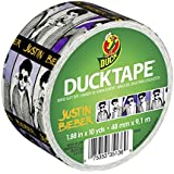 Duck Brand 281513 Justin Bieber Printed Duct Tape, 1.88 Inches x 10 Yards, Single Roll