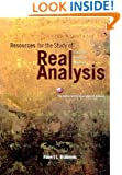 Resources for the Study of Real Analysis (Classroom Resource Materials)