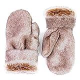 Futrzane Winter Gloves Mittens Faux Rabbit Fur High Quality For Women Men