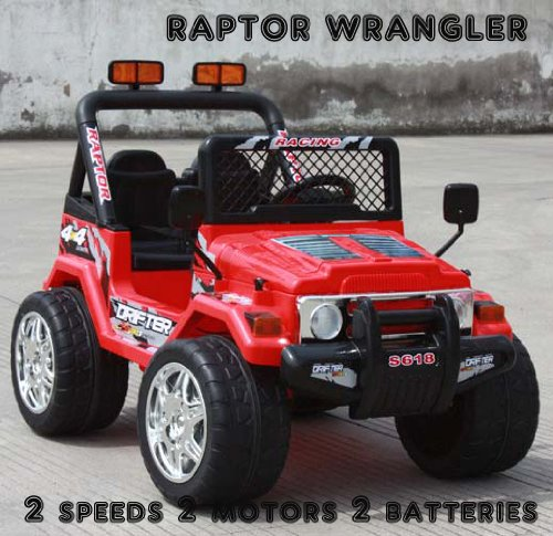 kt new raptor wrangler kids ride on car battery power remote control wheels rc