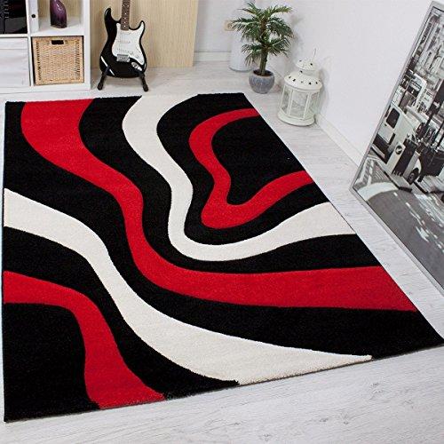 Moderner teppich design gestreift wellen muster for Wohnzimmer farben muster
