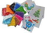 Toy - Jumbo XL-Bügelperlen-Set, 11.000 Bügelperlen in 11 Farben, 1 große Steckplatte + 25 Vorlagen