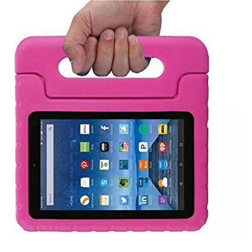 Fire 7 2015 Case, TabPow [Kids Case] - [Shockproof][Drop Protection][Heavy Duty] Kids Children EVA Case with Carrying Handle Stand For Amazon Fire 7 Tablet (will only fit Fire 7