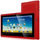 Zeepad® 7DRK Dual Core 4.2 Red Android Tablet 7 Inch, Multi-Touch, Dual Camera, Wi-Fi (May 2014 RED)
