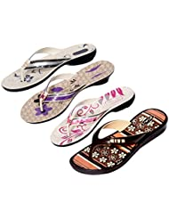 Krocs Super Comfortable Combo Pack Of 3 Pair Flip Flop With 1 Pair Slippers For Women (Pack Of 4 Pair) - B01JSEJWWK