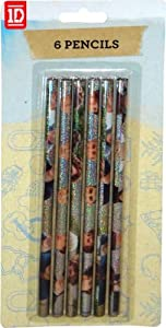 One Direction 6Pack Stationery Brands Pencils by .