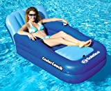 Solstice 15181SF Blue Vinyl Swimming Pool Inflatable Cooler Couch Lounger by Solstice