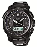 Casio Protrek BLACK TITAN LIMITED TOUGH MVT Tough Solar radio clock MULTIBAND 6 PRW-5100YT-1JF Men's Watch Japan import