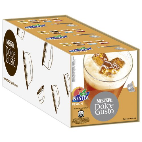 Nescafé Dolce Gusto Nestea Iced Tea Peach, Pack of 3, 3 x 16 Capsules